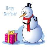Boneco de neve engraçado Fotografia de Stock