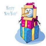 Boneco de neve engraçado Foto de Stock