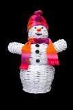 Boneco de neve feito malha com chapéu e lenço Imagem de Stock