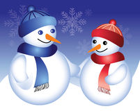 Boneco de neve feliz Imagem de Stock