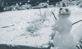 Boneco de neve feliz imagens de stock royalty free