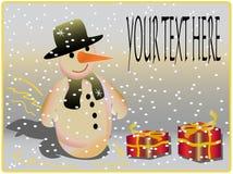 Boneco de neve feliz por o ano novo ilustração royalty free