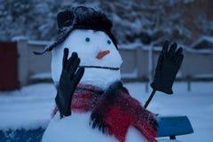 Boneco de neve irritado imagens de stock royalty free