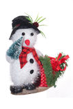 Boneco de neve isolado no branco Fotografia de Stock Royalty Free