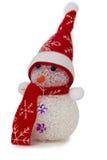 Boneco de neve isolado no fundo branco Fotografia de Stock