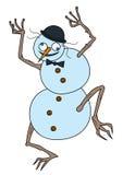 Boneco de neve louco ilustração stock