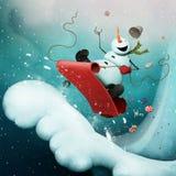 Boneco de neve louco ilustração royalty free