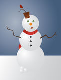 Boneco de neve lunático Fotos de Stock