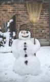 Boneco de neve na jarda Imagens de Stock