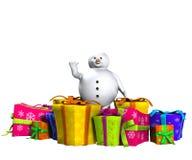 Boneco de neve na neve Imagens de Stock