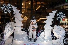 Boneco de neve na parada do Natal de Bellevue imagens de stock royalty free