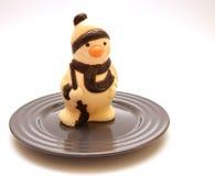 Boneco de neve na placa Foto de Stock