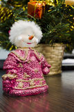 Boneco de neve na tabela Imagem de Stock Royalty Free