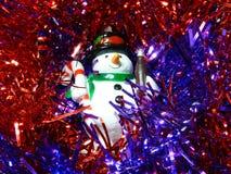 Boneco de neve no ouropel Foto de Stock
