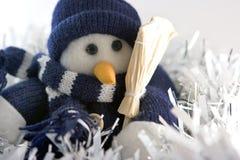 Boneco de neve nos ouropéis Foto de Stock
