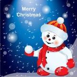 Boneco de neve pequeno Fotos de Stock