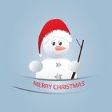 Boneco de neve pequeno Fotos de Stock Royalty Free