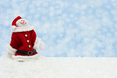 Boneco de neve que tem o divertimento Fotografia de Stock