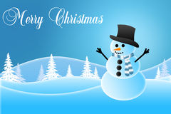 Boneco de neve que veste um chapéu Imagem de Stock Royalty Free