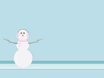 Boneco de neve retro ilustração royalty free