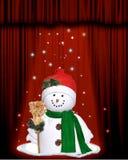 Boneco de neve sob a luz do estágio foto de stock royalty free