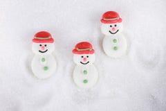 Boneco de neve do açúcar Fotos de Stock