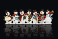 Bonecos de neve Fotos de Stock Royalty Free