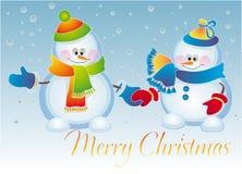 Bonecos de neve ilustração stock