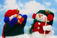 Bonecos de neve Foto de Stock