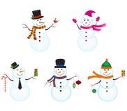 Bonecos de neve Fotos de Stock