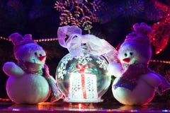 Bonecos de neve do Natal Fotos de Stock Royalty Free
