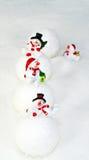 Bonecos de neve e bolas de neve Foto de Stock Royalty Free