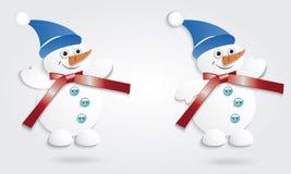 Bonecos de neve engraçados. Fotos de Stock