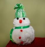 Bonecos de neve feitos de lã Imagens de Stock Royalty Free