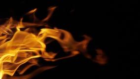 Bonefire, Fire flames in campfire, campsite at Masai Mara Park, Kenya. Slow motion stock footage
