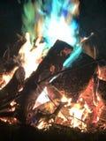 Bonefire i Whitewater Wisconsin arkivfoton