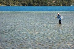 bonefish πετώντας Στοκ εικόνες με δικαίωμα ελεύθερης χρήσης