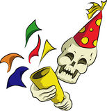 Bonehead празднует партию Нового Года Стоковые Изображения RF