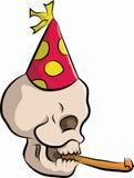 Bonehead с шляпой партии Стоковое Изображение RF