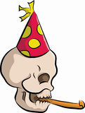 Bonehead with party hat Royalty Free Stock Image