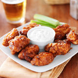 Boneless buffalo bbq chicken wngs Stock Images