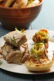 Boneless chicken with vegetables closeup Stock Photos