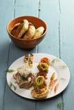 Boneless chicken with vegetables Stock Image
