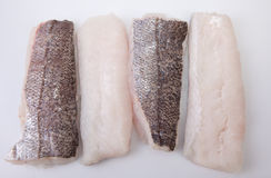 Boneless hake steaks Stock Photography