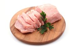Boneless pork loin Stock Image