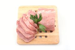 Boneless pork loin Royalty Free Stock Images