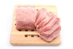 Boneless pork loin Royalty Free Stock Photo