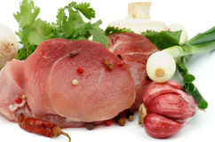 Boneless Raw Pork Stock Photo
