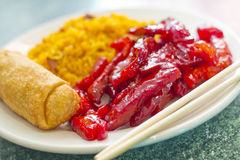 Boneless Spare Ribs Lunch Royalty Free Stock Images