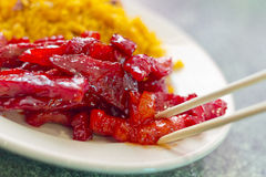 Boneless Spare Ribs Lunch Royalty Free Stock Photography